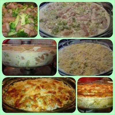 Joghurtos, fokhagymás, brokkolis csirke