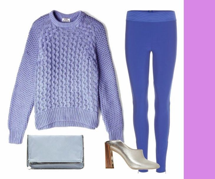 #falabella #stellamccartney #style #fashion #liliac #purple #fashionblog #shopping Liliac purple outfit - idea look lilla viola, accessori ecopelle stella mc cartney falabella shoes, acne jumper, maglioni lilla, leggings vi...