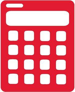 Silhouette Online Store: calculator MATH