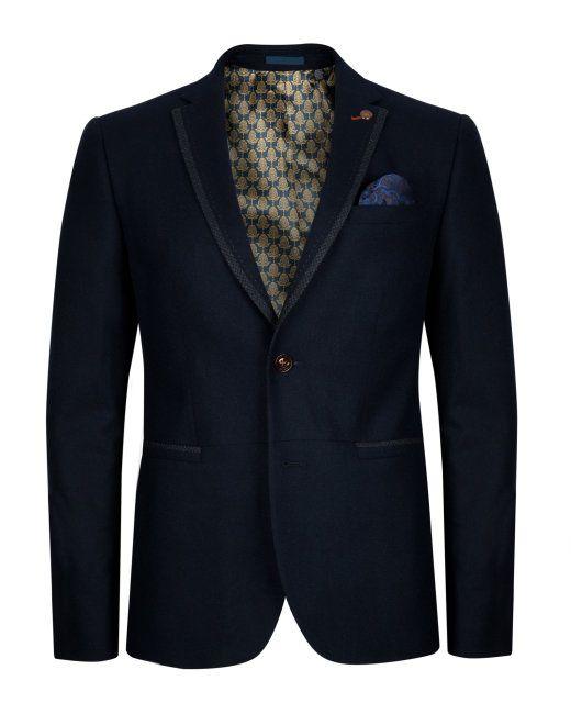 XL- Wool flannel blazer - Navy | Blazers | Ted Baker