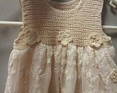 Crochet girls toddler dress or reborn toddler dress.