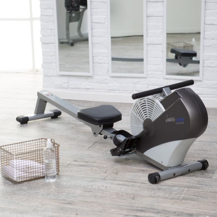 Stamina 1399 ATS Air Rowing Machine - Wind resistance provides a comfortable yet challenging rowing workout Oversized upholstered seat, seat rail, and foot plates accommodate any user ...