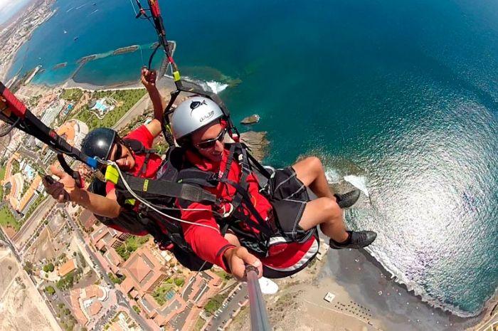 Vuelo en parapente en el sur de Tenerife