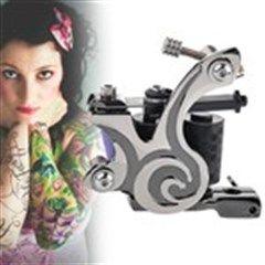 Fashion Designed Damascus Steel Dual-10-Coil Tattoo Machine Liner Shader Gun