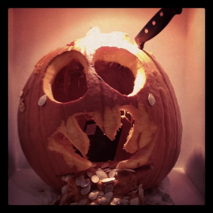 Pumpkin Carving Contest - Puking Pumpkin