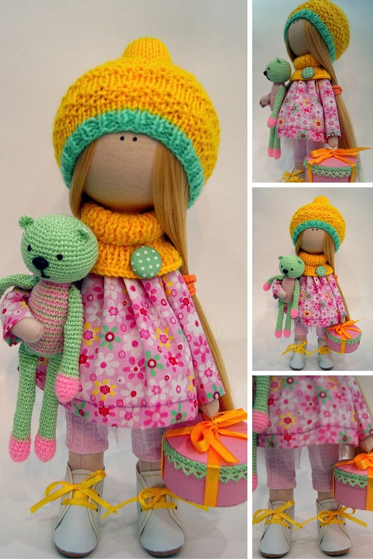 Handmade doll Art doll Soft doll Tilda doll Interior doll Textile doll Cloth…
