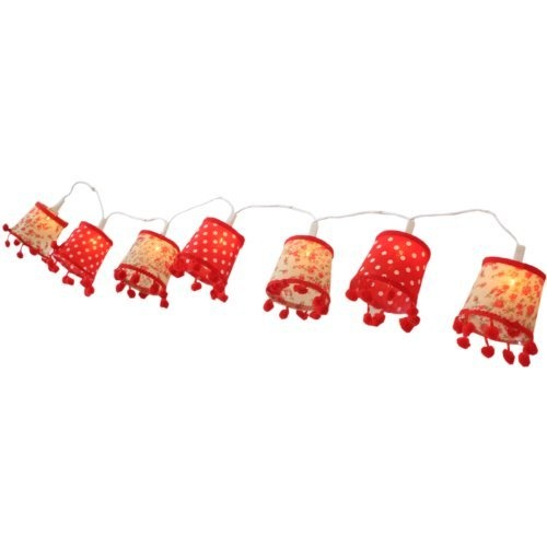 Vintage Retro Pom Pom Light Shade Fairy Lights String by sil For the Home Pinterest ...