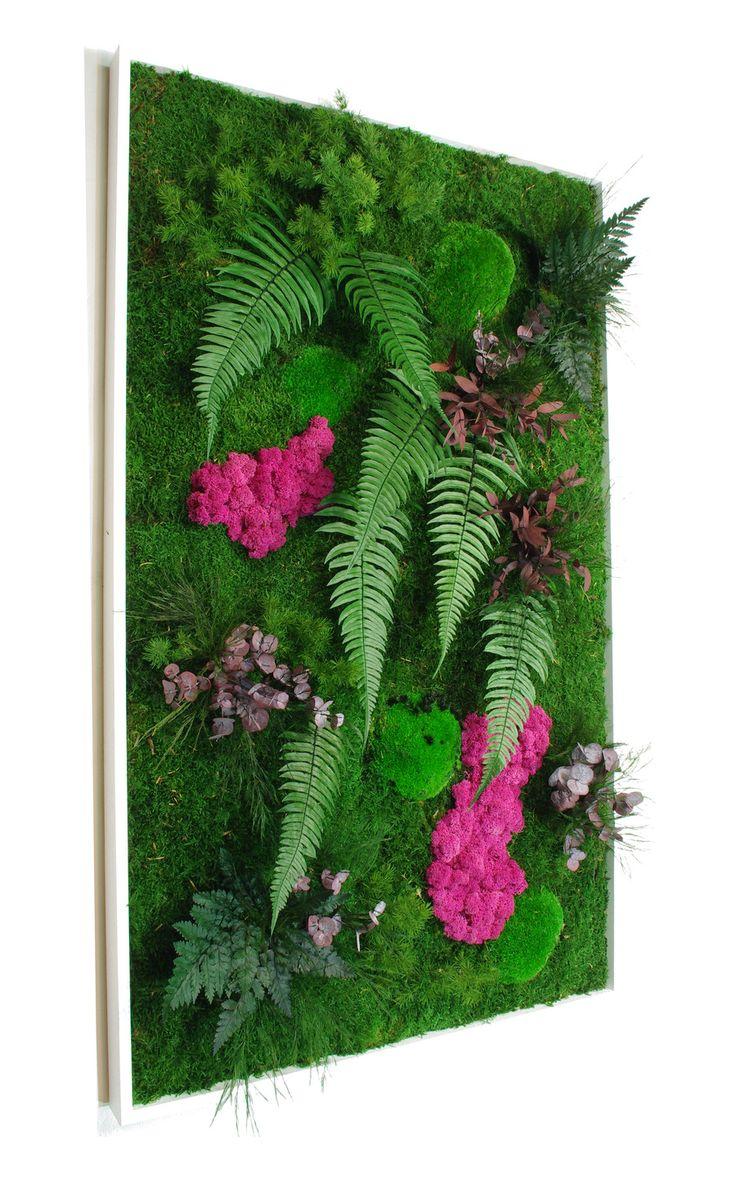 Tableau végétal stabilisé sans entretien Jäkälä 100 x 60 cm