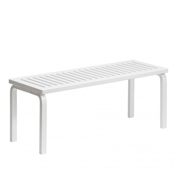 Designed by Alvar Aalto in 1945 the versatile 153 Bench can be used as either a seat or side table. L-legs and top of birch available in natural,white or black lacquered.