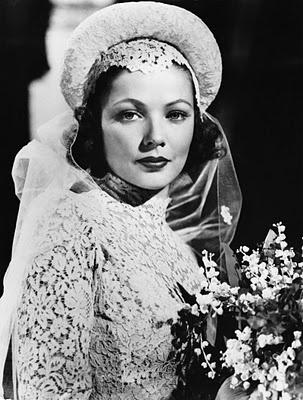 Gene Tierney as a bride in The Razor's Edge (1946).