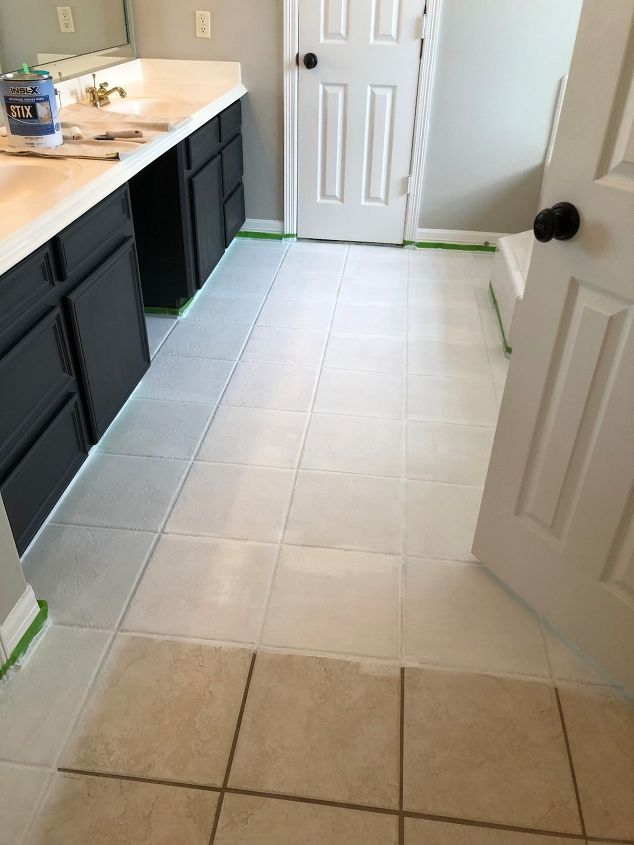 How To Paint A Faux Tile Floor Painting Ceramic Tile Floor Painted Kitchen Floors Tile Floor Diy