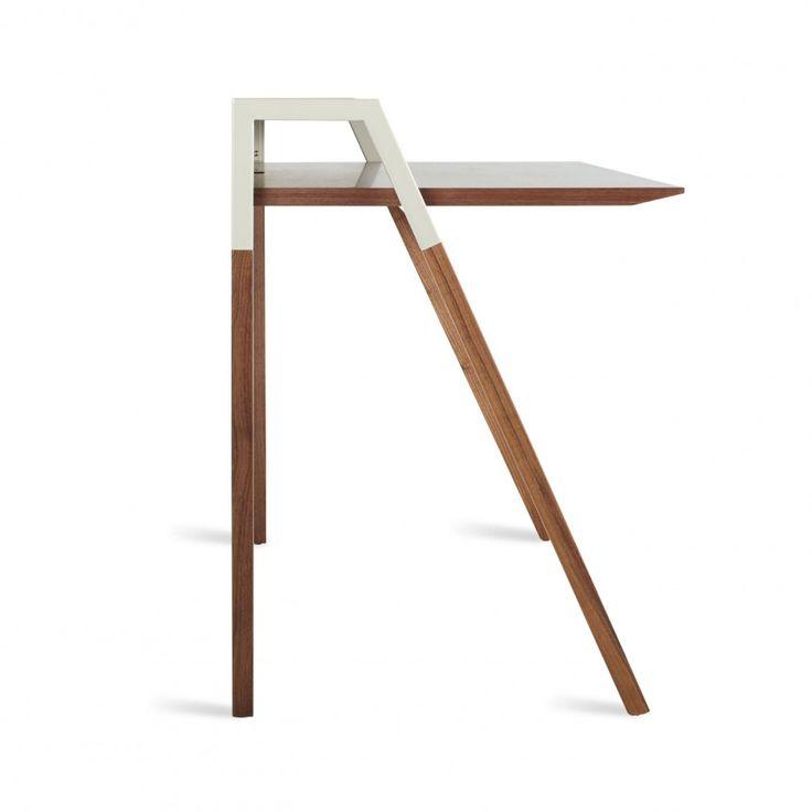 cant small modern study desk walnut grey - Herman Miller Schreibtisch Veranstalter