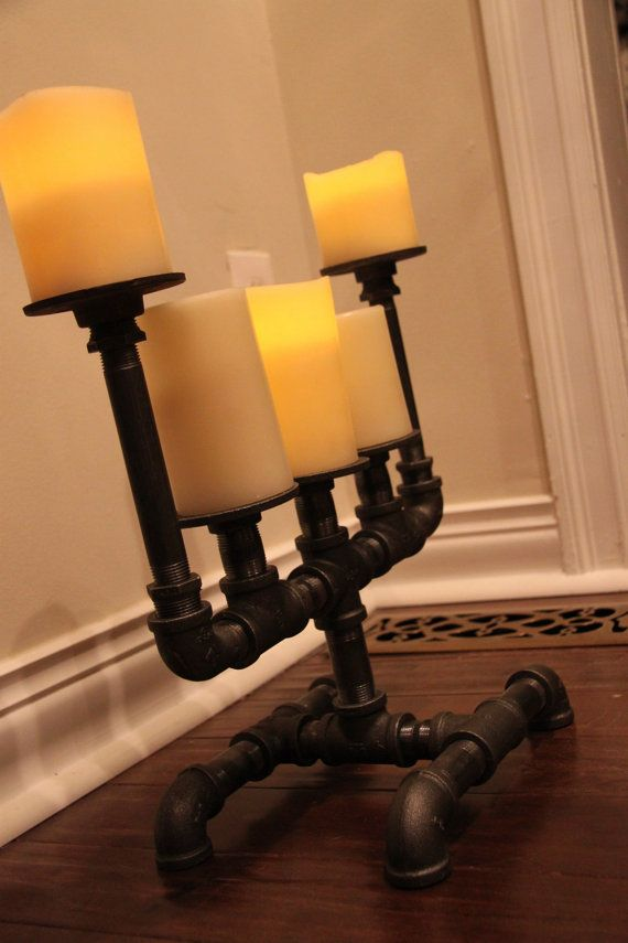 Industrial pipe candle holder Big guy 5 by DutchMommaDesigns, $124.00