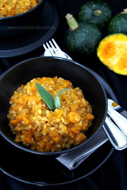 Farrotto alla zucca - Spelt cooked like risotto with pumpkin | From Zonzolando.com