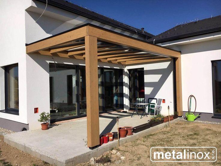 Drevený prístrešok Modern s krytinou sklo/Wooden shelter house with glass/Wooden pergola with glass