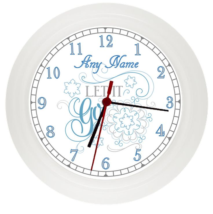 Personalised FROZEN inspired wall clock* Childrens Bedroom* Gift* Girls by LittlePicklePlaques on Etsy