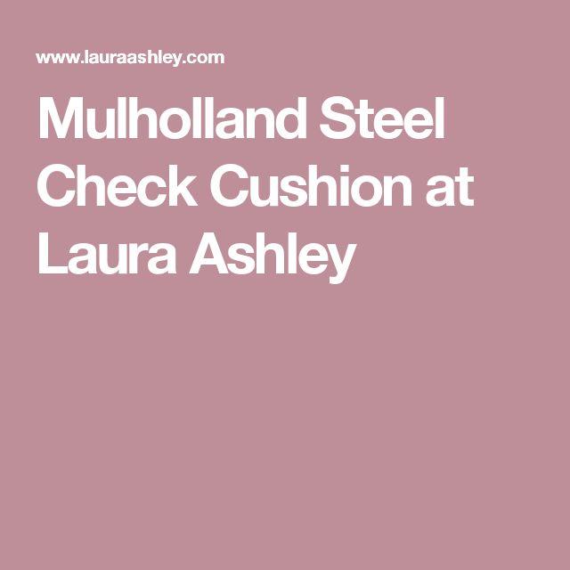 Mulholland Steel Check Cushion at Laura Ashley