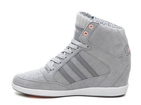ae4934ec5b9d ireland adidas neo super high top wedge sneaker womens grey 2629e ae987