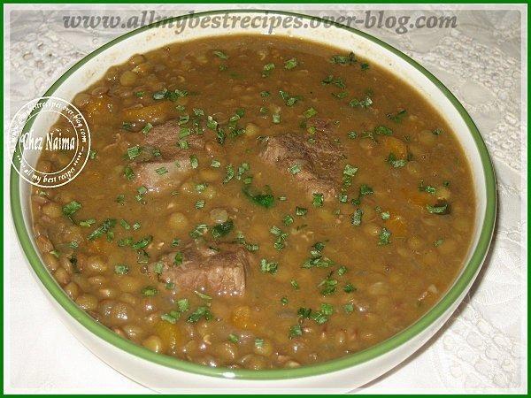 Soupe de lentilles a L'Algerienne Elias la3adesse.