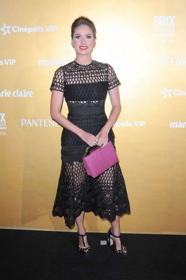 Splurge: Galilea Montijo's Marie Claire Prix de la Mode Awards Mexico City 2015 Self Portrait Cutwork Lace Layered Dress