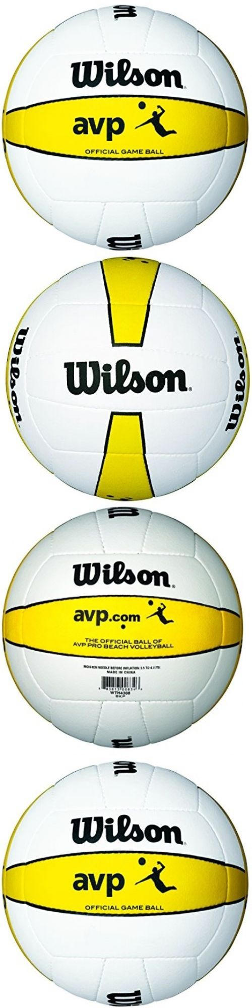 Volleyballs 159132: Wilson Official Avp Outdoor Game Volleyball Sports Microfiber Ball Leather Cover -> BUY IT NOW ONLY: $58.49 on eBay!