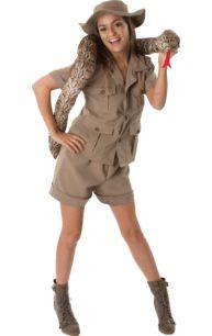 Adult Safari Lady Fancy Dress Costume