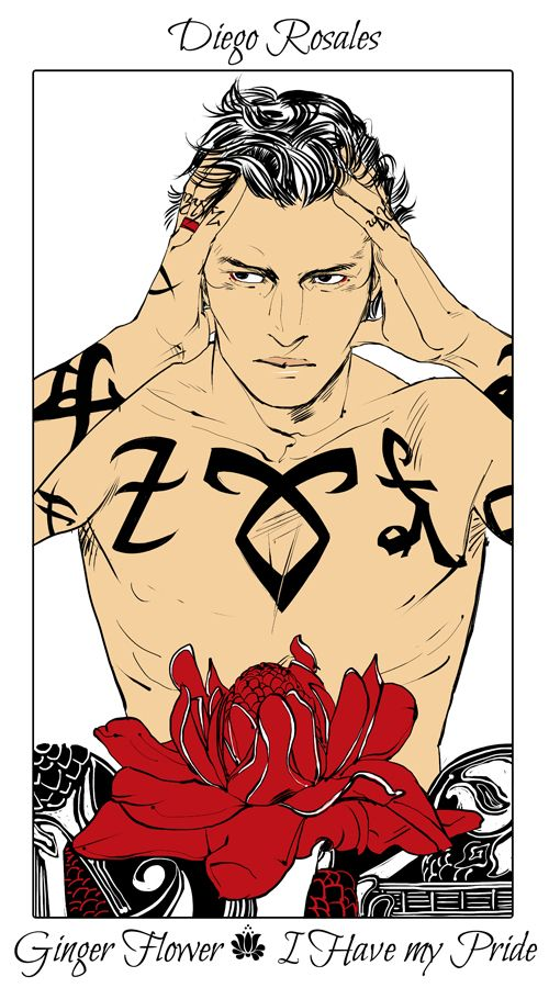 Diego Rosales - Ginger Flower (I Have my Pride): Cassandra Jean: Shadowhunter Flowers Series: *Character belongs to Author Cassandra Clare and her Dark Artifices series