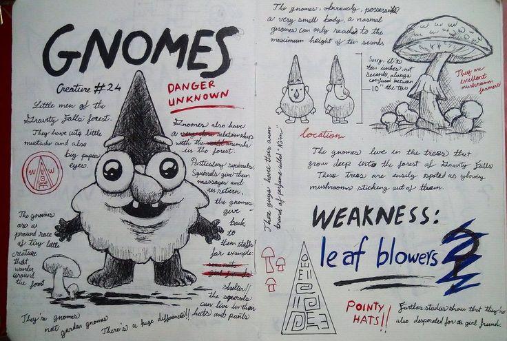 Gravity Falls Journal 3 Replica - Gnomes page by leoflynn on deviantART
