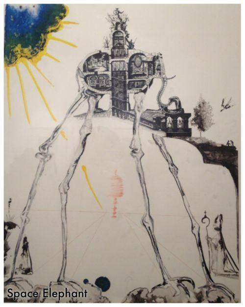 Space Elephant - Salvador Dali