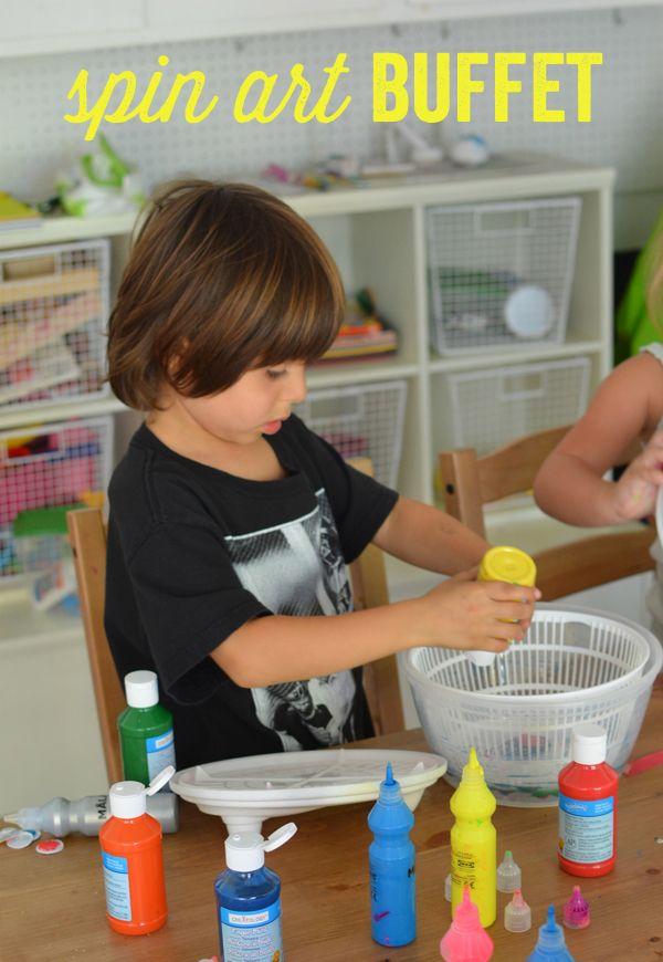 Make a Spin Art Buffet Bar - gift :-)                            Gloucestershire Resource Centre http://www.grcltd.org/scrapstore/