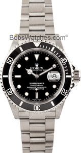 Rolex Submariner 16610 - Certified, Used 16610 Submariners at Bobs