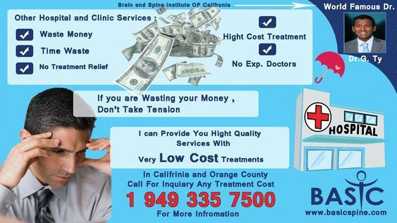 Basic ® Spine Center is providing you best and Hight Quality Treatment Services in USA. You Can Take Benefit of this Spine Center Services. We Have a Very low and affordable Price of all treatments...