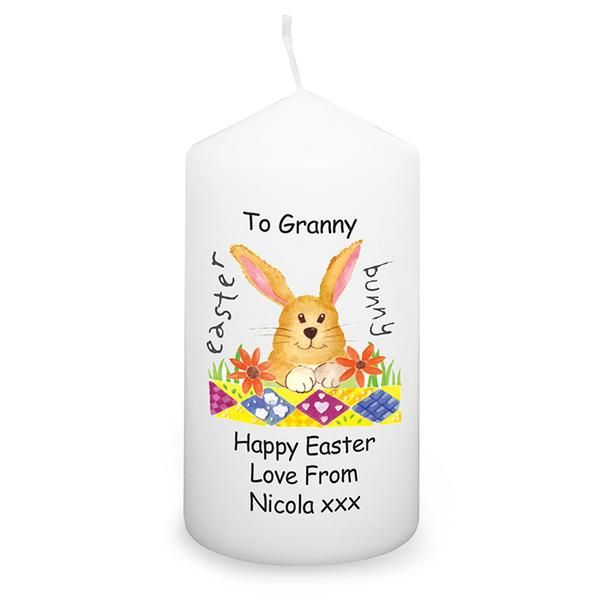 29 best easter gift ideas not just chocolate images on pinterest personalised easter candle for boy and girl easter bunny perfect easter present or gift for mum dad brother sister son daughter grandad grandma negle Choice Image