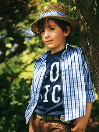 Schnittmuster: Karo-Hemd - Stehkragen - Jungen - Gr. 92 - 188 - Kinder - burda style