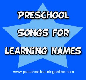 Learning Names Song For Preschoolers - Preschool Learning Online