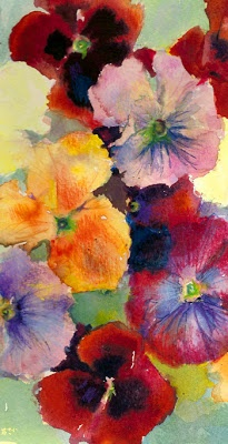 pansy painting
