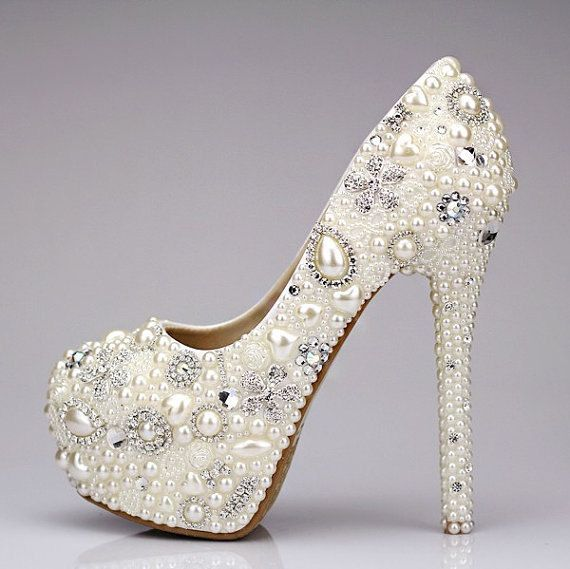 Bling Wedding shoes unique wedding shoes and by sweettinashop, $199.00