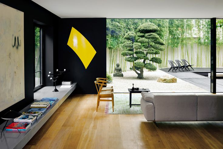 Marc Meiré's  Dusseldorf home. I'd skip the interior and be mesmerized by that Japanese garden.