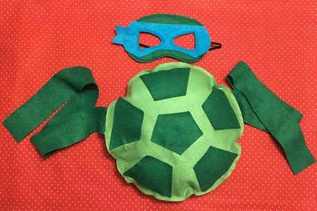 Como Fazer Fantasia de Tartaruga Ninja Infantil Fácil