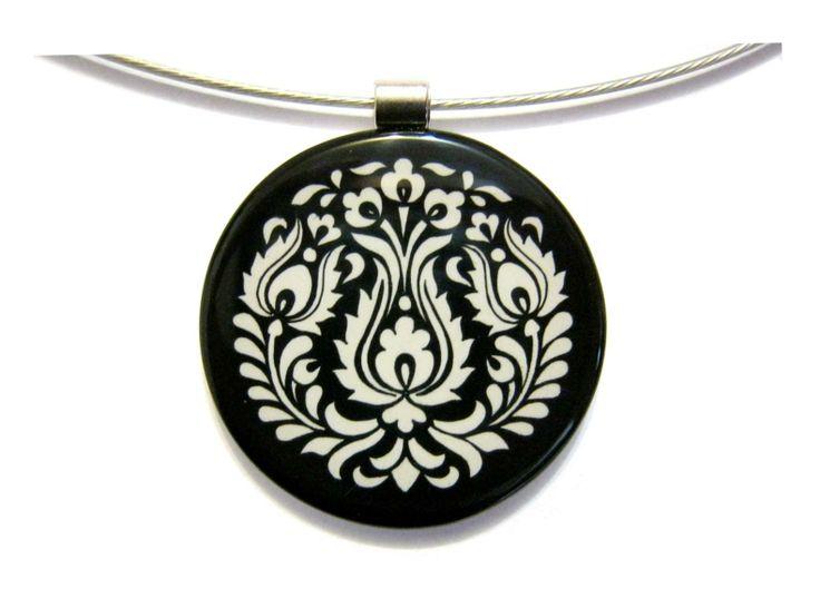 Népi szűrmintás nyaklánc 3. | Ékszerek | Kovács Flóra ékszerei | kovacsflora.ekszerei, Hungarian folk art necklace, magyar nyaklánc