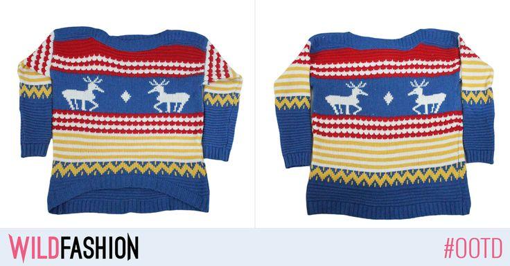 Puloverele cu imprimeuri traditionale de Craciun sunt un must-have in aceasta perioada - poarta-l pe acesta cu blugii preferati!