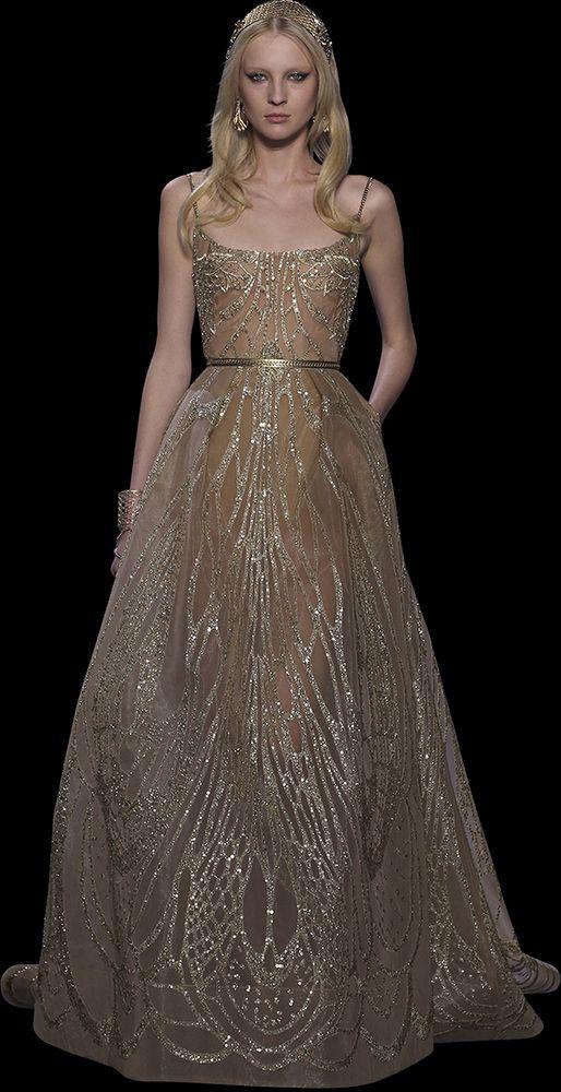 753 best nude blush color looks images on pinterest for Elie saab blush wedding dress