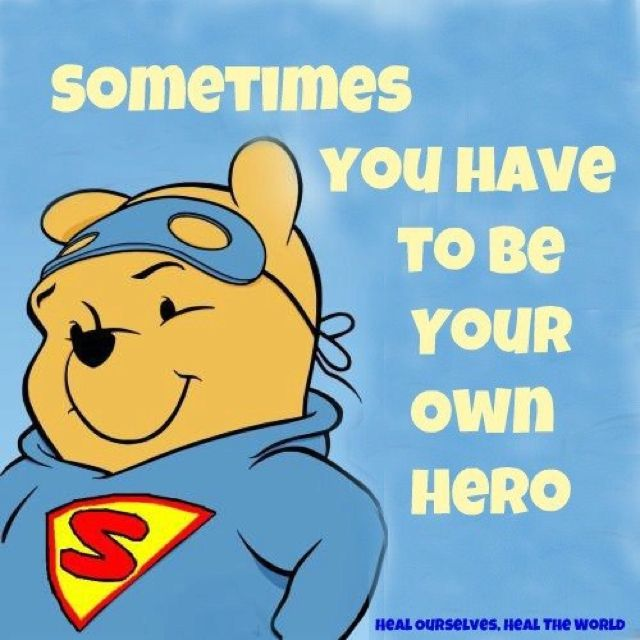 Pooh Bear is a Super Hero!