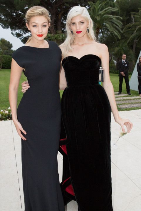 Gigi Hadid with Devon Windsor at amFAR's 21st Cinema Against AIDS Gala at Hotel du Cap-Eden-Roc in Antibes, France. See all of the model's best looks.
