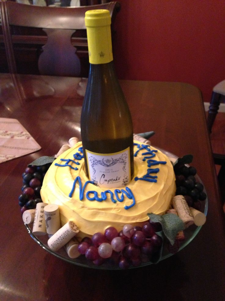 Wine Lovers Birthday Cake Party Ideas Pinterest