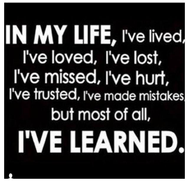I'V LEARNED