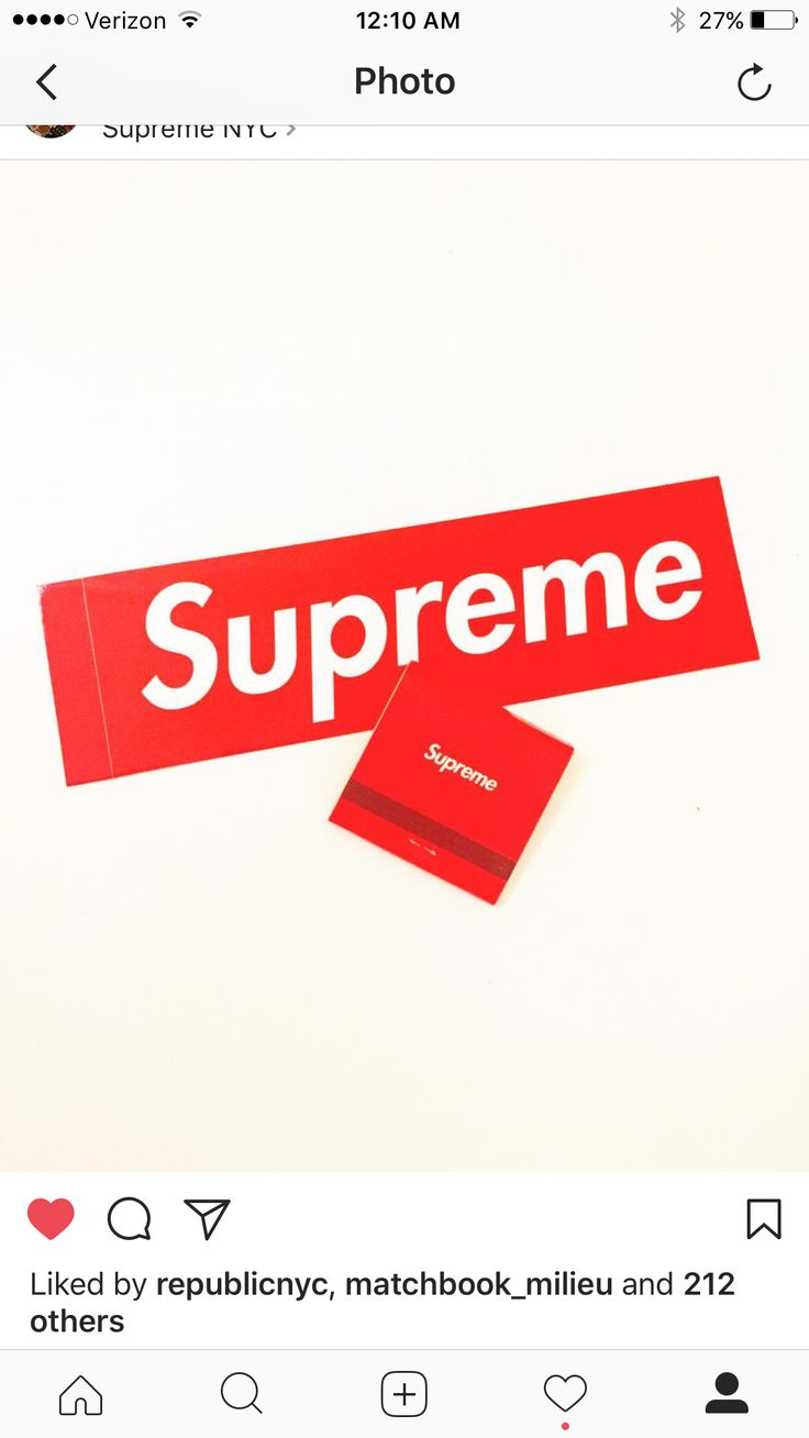 Supreme brand promotional matchbook. To order your business' own branded matches GoTo GetMatches.com