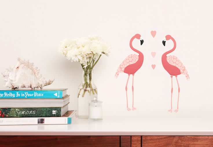 Mini Mae Stickers - Flamingos  Stick on laptops, notebooks, lunch boxes, mobile phones, furniture, in your car and well, just about anywhere. Their cute size make them easy to use in almost any place you can think of. Our gorgeous decals can be applied to any smooth surface, if you change your mind you can whip the decals off neatly and move them around as much as you like.