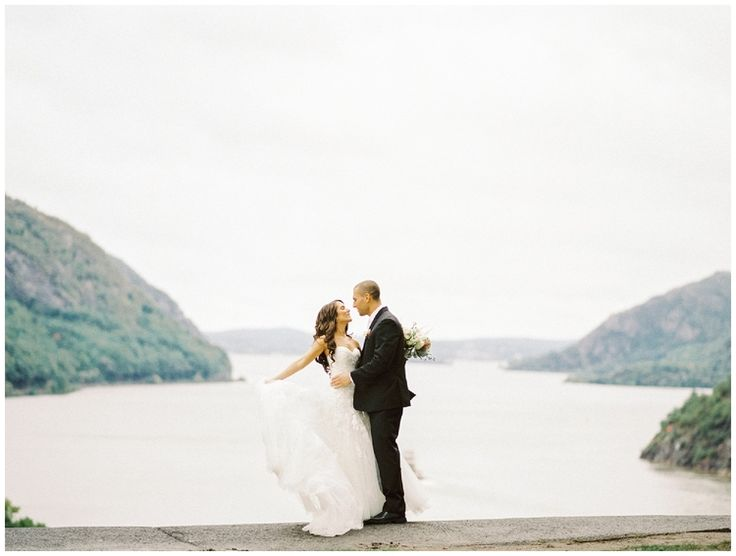 West Point Thayer Hotel Wedding Bride and Groom