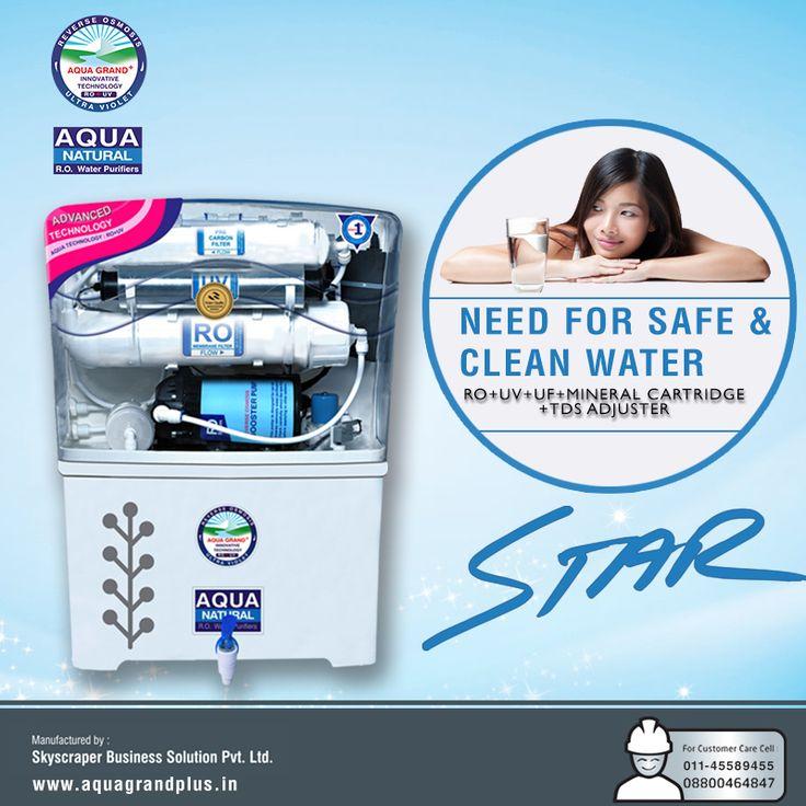 Need For Safe & Clean Water #AquagrandPlus #Star #Water #CleanWaterForIndia #WaterPurifierIndia #ROPurifier Visit Us- www.aquagrandplus.in Call Us-011-45589455 / +91 8800464847